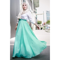 Adior Basic Crepe Flare Skirt - Mint Green