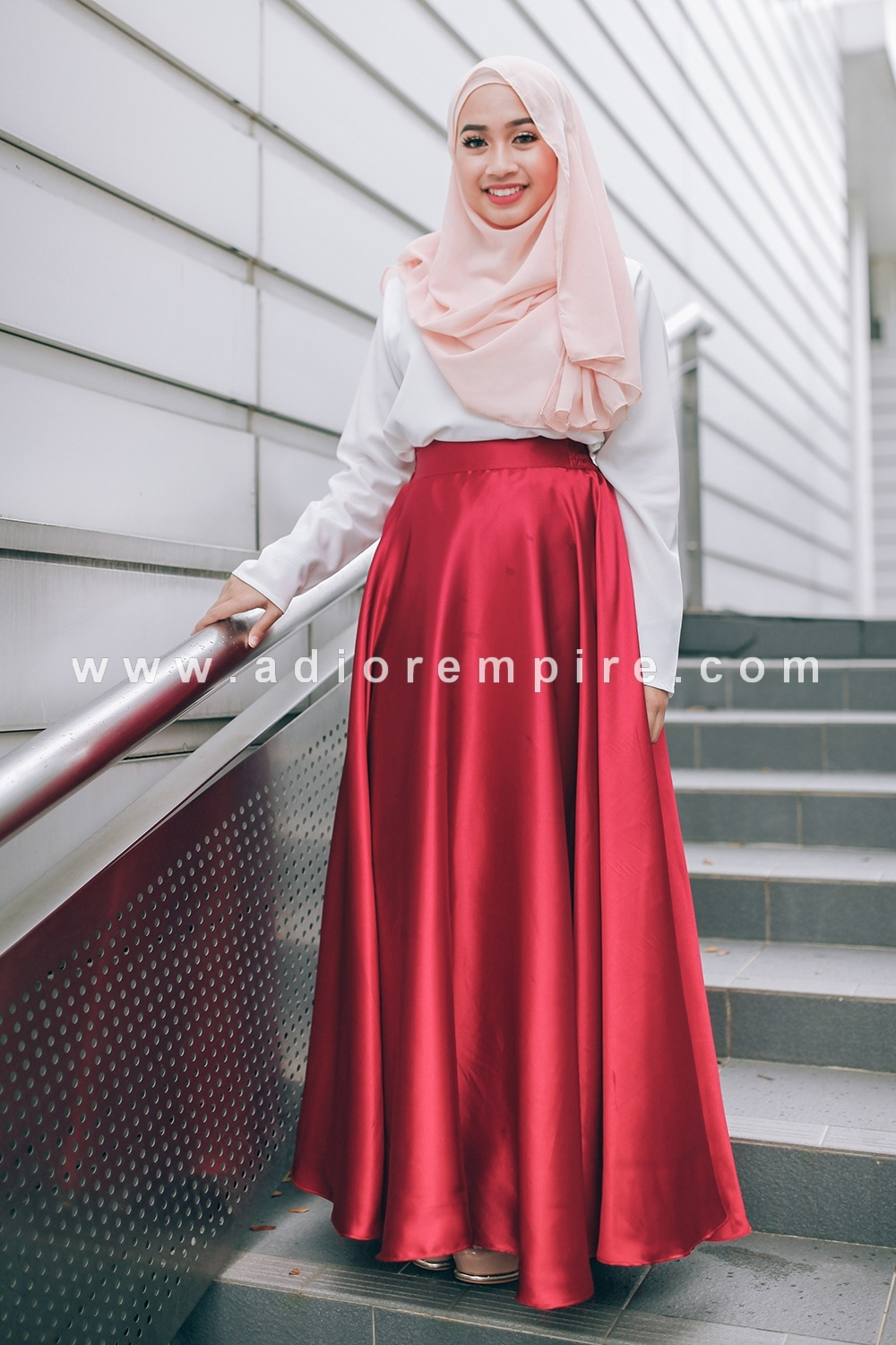 715c46bc0b Home » Adior Basic Satin Flare Skirt - Ruby Red. SALE. Click Image for  Gallery