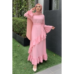 Adior Hana Ruffle Dress - Dusty Pink