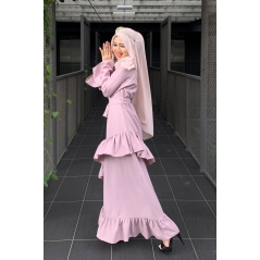 Adior Hana Ruffle Dress - Purple Pastel