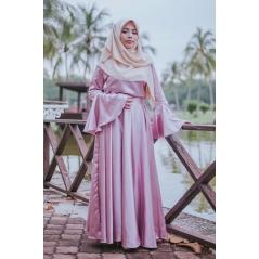 Adior Satin Silk Flare Skirt - Dusty Pink