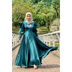 Adior Satin Silk Flare Skirt - Emerald Green